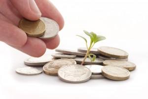 money growth sales hand plant
