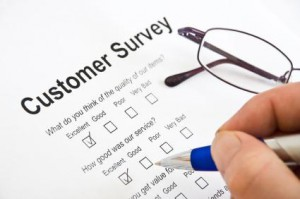 Survey taking pen glasses customer service